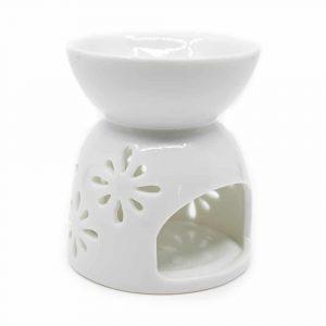 Aroma burner and oil vaporizer - White