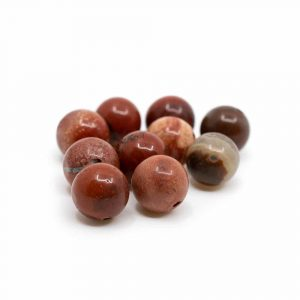 Gemstone Loose Beads Red Jasper - 10 pieces (8 mm)