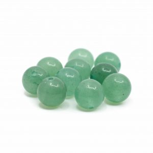 Gemstone Loose Beads Green Aventurine - 10 pieces (8 mm)