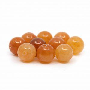 Gemstone Loose Beads Red Aventurine - 10 pieces (8 mm)