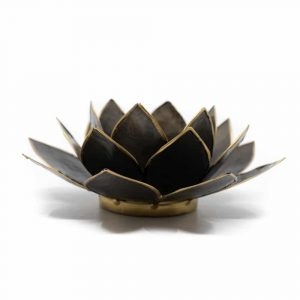 Lotus Mood Light Black Gold Edge