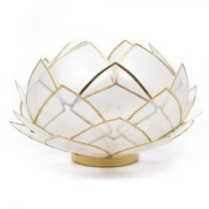 Lotus Mood Light Natural Gold Edge - Large