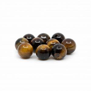 Gemstone Loose Beads Tiger Eye - 10 pieces (8 mm)