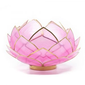 Lotus Mood Light Pink Gold Rim - Large