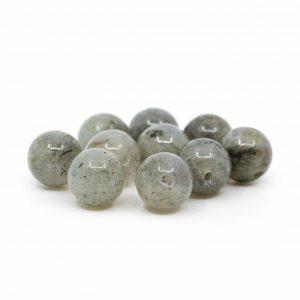 Gemstone Loose Spectrolite Beads - 10 pieces (8 mm)