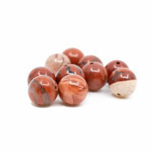 Gemstone Loose Beads Red Jasper - 10 pieces (10 mm)