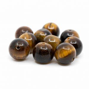 Gemstone Loose Beads Tiger Eye - 10 pieces (10 mm)