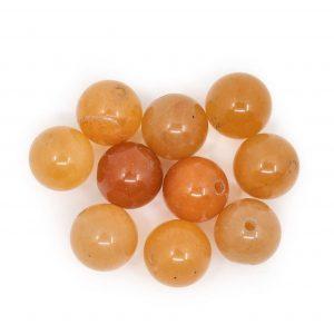Gemstone Loose Beads Red Aventurine - 10 pieces (10 mm)