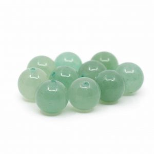 Gemstone Loose Beads Green Aventurine - 10 pieces (10 mm)