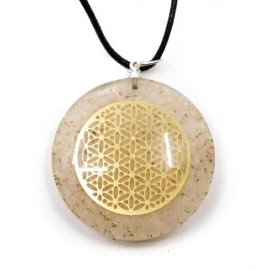 Orgon Pendant Flower of Life - Peach Moonstone