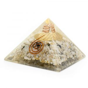 Orgonite Pyramid Rainbow Moonstone - Flower of Life (70 mm)