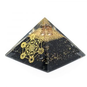 Orgone Pyramid Black Tourmaline Metatron (70 mm)