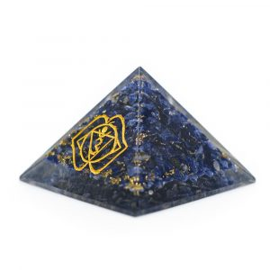 Orgonite Pyramid Sodalite - Third Eye (70 mm)
