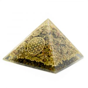 Orgonite Pyramid Epidote - Flower of Life (70 mm)