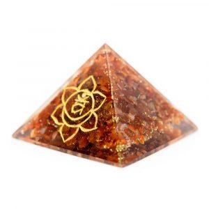 Orgonite Pyramid Carnelian  - Sacral Chakra (70 mm)