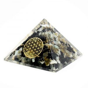 Orgonite Pyramid Chrysocolla - Flower of Life (40 mm)