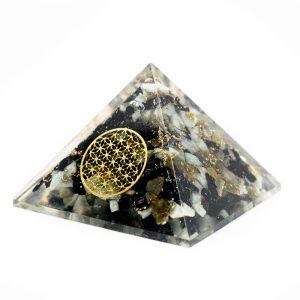 Orgonite Pyramid Chrysocolla - Flower of Life (40 mm)