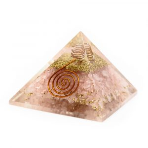 Orgone Pyramid Rose Quartz Copper Spiral (40 mm)