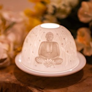 Atmospheric Light Porcelain Buddha