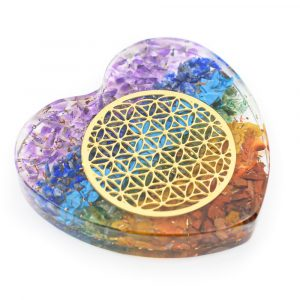 Orgonite Heart Chakra with Copper Flower of Life