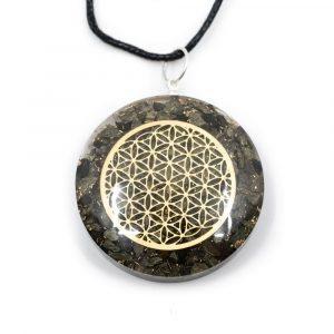 Orgon Pendant Flower of Life - Pyrite