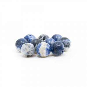 Gemstone Loose Beads Sodalite - 10 pieces (8 mm)