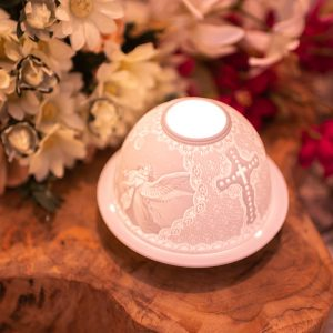Porcelain Mood Light Angels and Cross