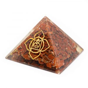 Orgonite Pyramid - Basic Chakra - Red Jasper (70 mm)