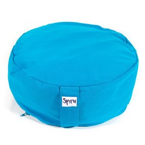 Spiru Meditation Cushion Round Cotton Turquoise - 36 x 15 cm