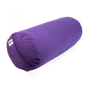 Yoga Bolster Purple Round Cotton - Plain - 59 x 21,5 cm