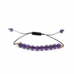 Gemstone Bracelet Amethyst Adjustable