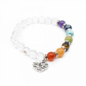 Gemstones Bracelet 7 Chakras and Rock Crystal