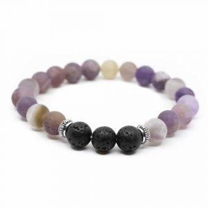 Gemstone Bracelet Amethyst/Lava Stones