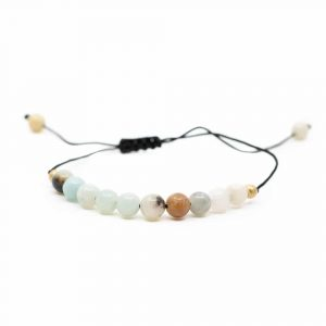 Gemstone Bracelet Amazonite Adjustable