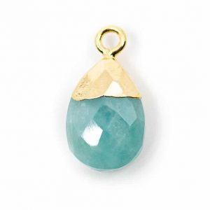Gemstone Pendant Amazonite Pear-shaped (10 mm)