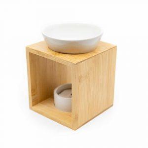 Luxury Aroma Burner Wood - White