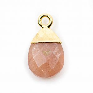 Gemstone Pendant Peach Moonstone Pear (10 mm)