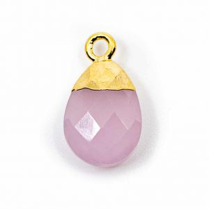 Gemstone Pendant Strawberry Quartz Pear-shaped (10 mm)
