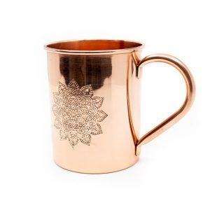 Copper Cup Mandala Etched (470 ml)