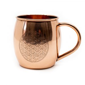 Copper Cup Flower of Life Etched (470 ml)