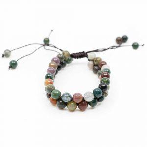 Gemstone Bracelet Agate Double Cord