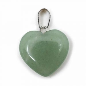 Heart Shape Gemstones Pendant Green Aventurine (20 mm)