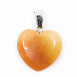 Heart Shape Gemstones Pendant Honey Jade (20 mm)