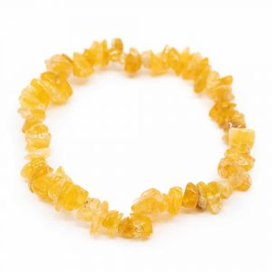 Gemstone Chip Bracelet Citrine (5-10 mm Stones)