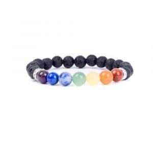 Gemstone Bracelet Lava Stone/Chakra