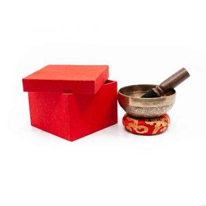 Singing Bowl Gift Set - Tibetan Engraved