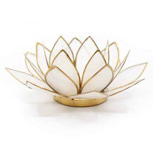 Lotus Mood Light Natural Gold Rim