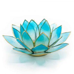 Lotus Mood Light 2-Color Light Blue/Blue Gold Edge