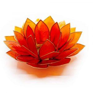 Lotus Mood Light Orange Gold Edge - Deluxe