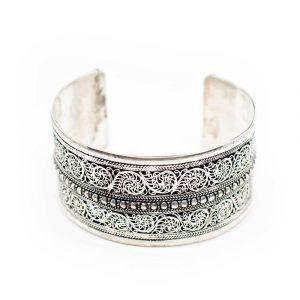 "Tibetan Bracelet Handmade ""Floral"""